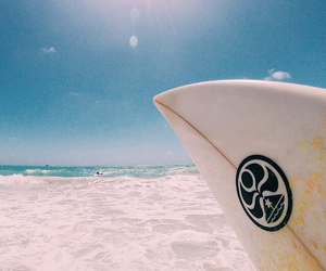 beach, sea, and wave image
