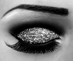 glitter, eye, and makeup image