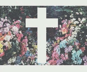 flowers and cross image