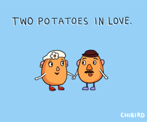 potatoes, love, and couple image