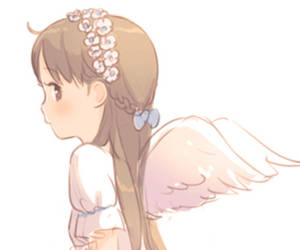 angel, cool, and flower image