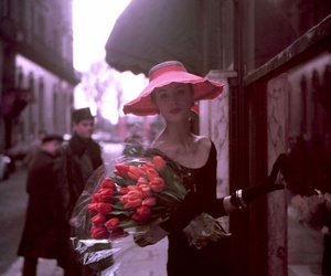 flowers, vintage, and woman image