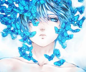 anime, blue, and anime boy image