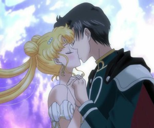 anime couple, かわいい, and usagi tsukino image