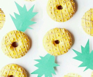 donuts, pineapple, and doughnuts image