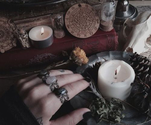witch, candle, and rings image