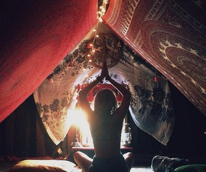 yoga, indie, and hippie image