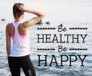 fitness, happiness, and healthy image