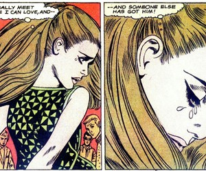 comic, in love, and pop art image