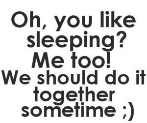 sleep, text, and together image