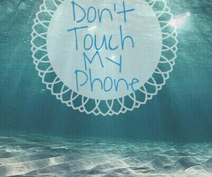 phone, wallpaper, and dont touch image
