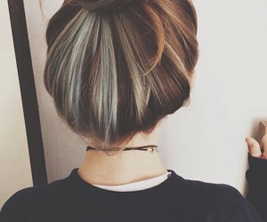 hair, beauty, and bun image