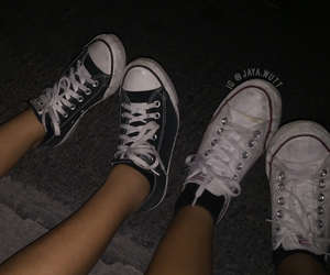 black, converse, and flash image