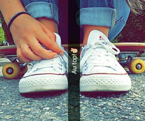 converse, skate, and jeans image