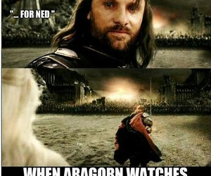 aragorn, lord of the rings, and ned stark image