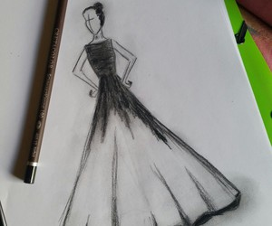 black and white, black swan, and drawing image