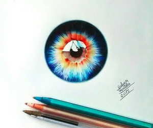 eye, art, and draw image