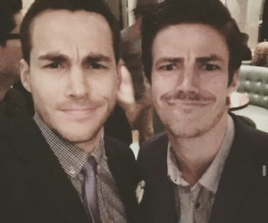 chris wood, tvd, and grant gustin image