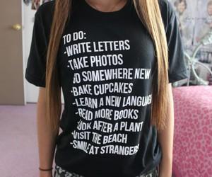 list, shirt, and to do image
