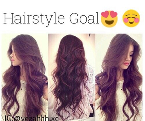 hair, goals, and style image