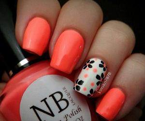 nails, orange, and flowers image