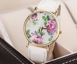 watch, fashion, and flowers image