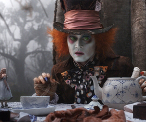 alice in wonderland, johnny depp, and tim burton movie image