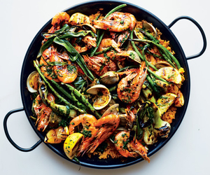 food, seafood, and fit image
