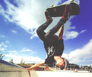 skate, skateboarding, and skater image