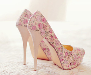 shoes, flowers, and heels image