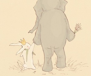 elephant, friends, and bunny image