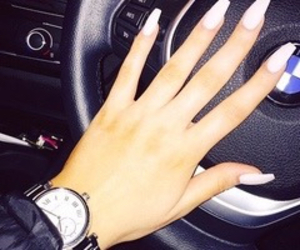 bmw, fashion, and long nails image