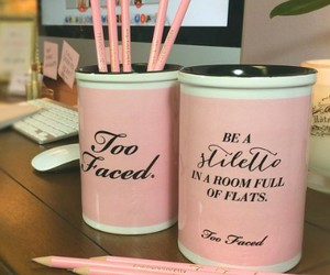pink, quote, and too faced image