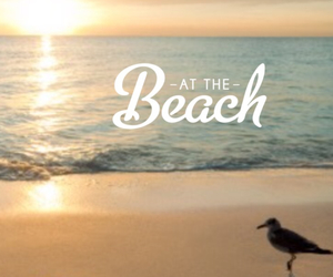 beach, summer, and at the beach image