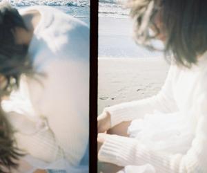 blue, girl, and sea image