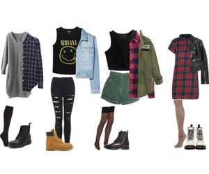 fashion, vintage, and grunge outfits image