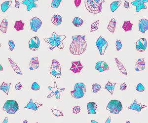 background, pattern, and shells image