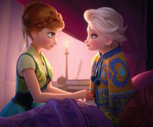 elsa, anna, and frozen image