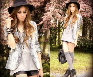 blazer, girl, and style image