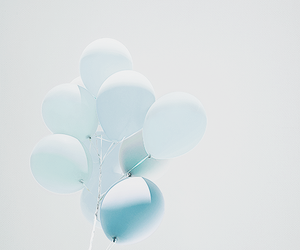 balloons, blue, and photography image