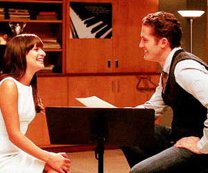 glee, rachel berry, and will schuester image