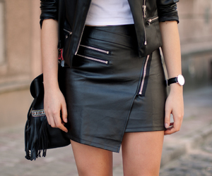 Elle, fashion, and leather image