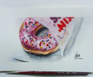 art, donut, and drawing image