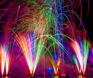 colors, fireworks, and light image