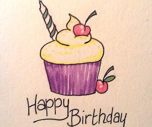 birthday, cupcake, and happines image