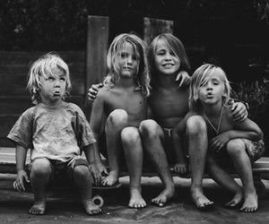 kids, child, and black and white image
