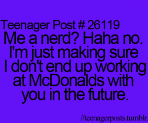 teenager post, funny, and nerd image