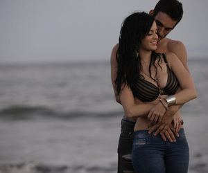 beach, couple, and katy perry image