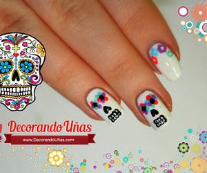 catrina, diy, and nail art image