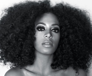 solange, black and white, and solange knowles image